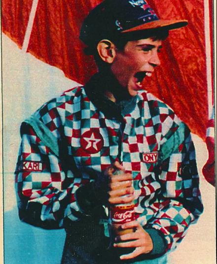 """Dušan Borković sa trinaest godina je postao najmlađi nosliac ,,zlatne kacige"""" u istoriji Jugoslovenskog auto-moto i karting sporta."""