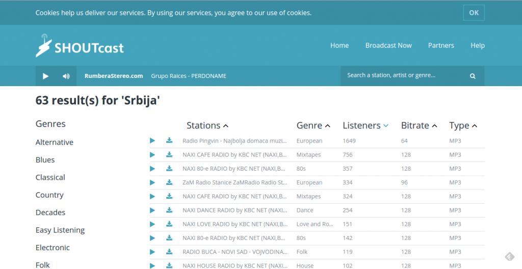 blog_dodati_radio_stanice_lista_muzički_plejer