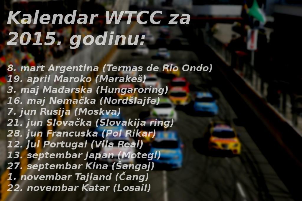 kalendar wtcc  2015